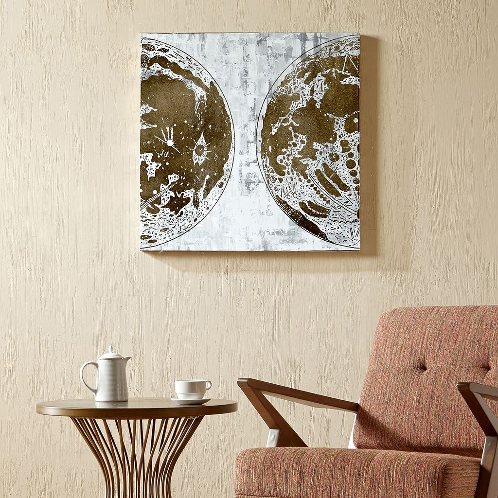 INK+IVY Map The Moon Canvas Wall Art