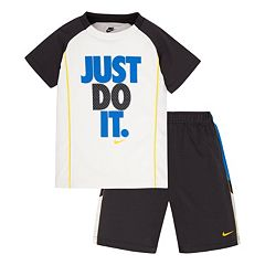 Boys 4-7 Nike 'Just Do It' Raglan Tee & Mesh Shorts Set