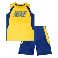 Boys 4-7 Nike Colorblock Muscle Tee & Shorts Set