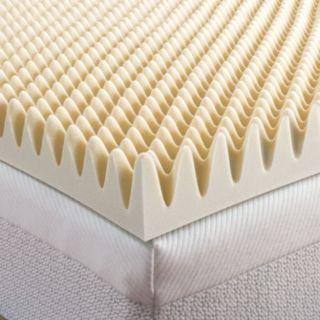 Dream Therapy 3-inch Convoluted Memory Foam Topper