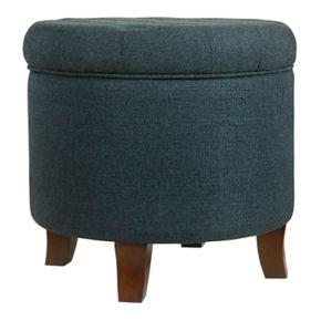 HomePop Tufted Storage Ottoman
