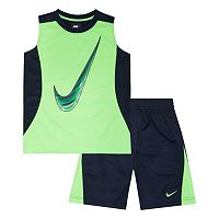 Boys 4-7 Nike Mesh Muscle Tee & Shorts Set