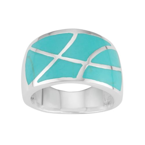 Sterling Silver Mosaic Ring