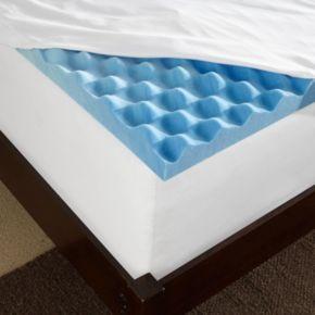 Sleep Innovations 3-inch Convoluted Gel Swirl Topper