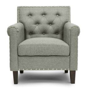 Baxton Studio Thalassa Linen Modern Arm Chair