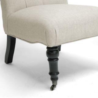 Baxton Studio Belden Linen Modern Accent Chair 2-piece Set