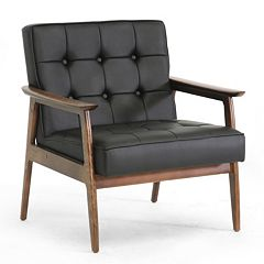 Baxton Studio Stratham Mid-Century Modern Club Chair