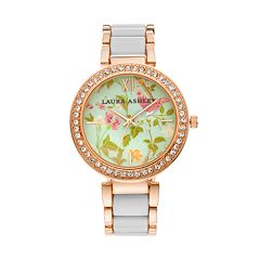 Laura Ashley Women's Crystal Watch