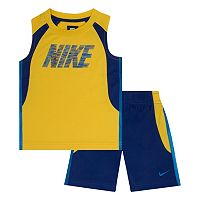 Toddler Boy Nike Colorblock Muscle Tee & Shorts Set