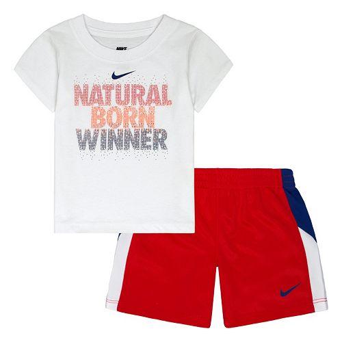 7a7504f4270d Baby Boy Nike ''Natural Born Winner'' Tee & Shorts Set
