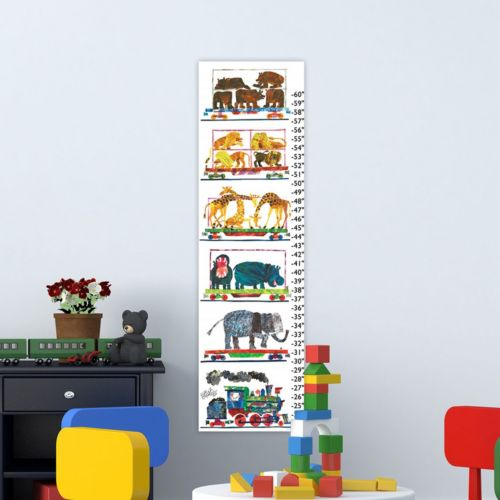 """Marmont Hill Eric Carle """"Animals and Steam Train"""" Wall Growth Chart"""
