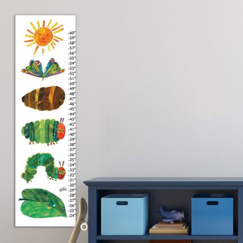 Marmont Hill Eric Carle Catapillar Becomes Butterfly Wall Growth Chart