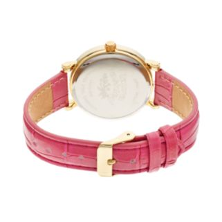 Laura Ashley Women's Crystal Leather Watch