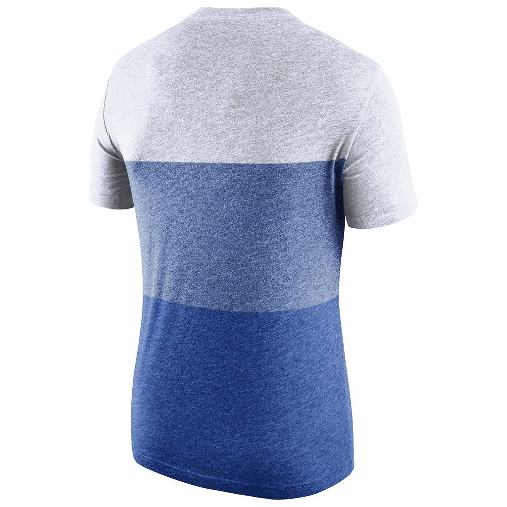 Men's Nike Florida Gators Triblend Colorblock Tee