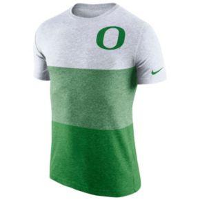 Men's Nike Oregon Ducks Triblend Colorblock Tee