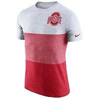 Men's Nike Ohio State Buckeyes Triblend Colorblock Tee