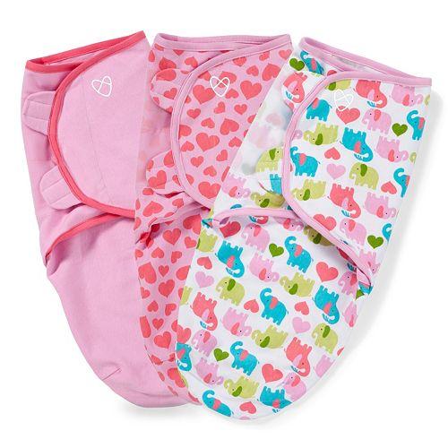 Baby Girl SwaddleMe 3-pk. Adjustable Infant Swaddles