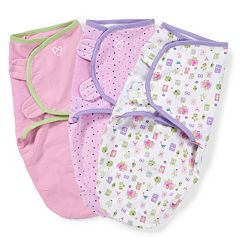 Baby Girl SwaddleMe 3 pkAdjustable Infant Swaddles