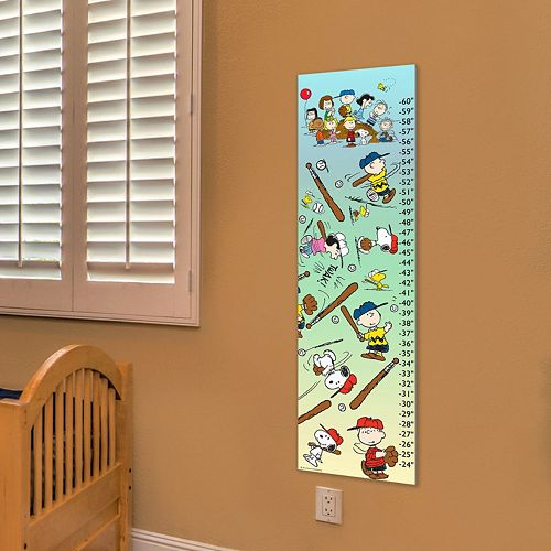 Marmont Hill Peanuts Playing Ball Wall Growth Chart