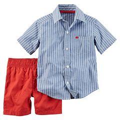 Baby Boy Carter's Button-Down Shirt & Shorts Set