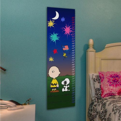 Marmont Hill Peanuts Charlie Brown & Snoopy Fireworks Wall Growth Chart