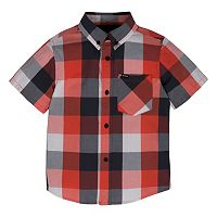 Boys 4-7 Hurley Woven Plaid Button-Down Shirt