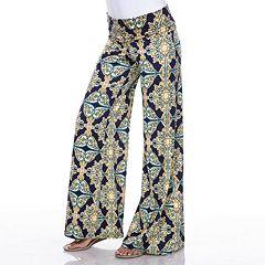 Women's White Mark Palazzo Pants