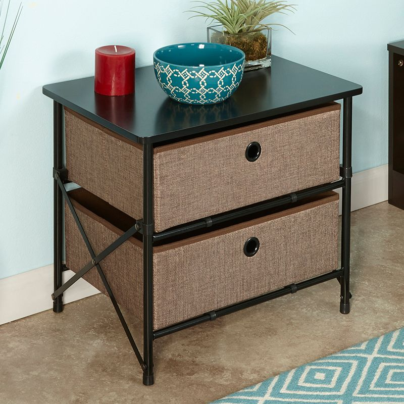 Mega Home Furniture Chair Side Storage Table Brown