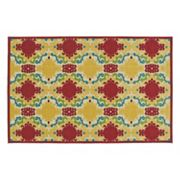 Kaleen A Breath of Fresh Air Damask Indoor Outdoor Rug
