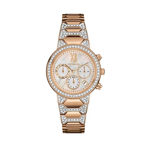 Wittnauer Women's Crystal Stainless Steel Chronograph Watch
