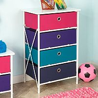 RiverRidge Kids 4-Drawer Storage Unit
