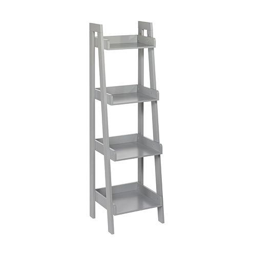 RiverRidge Home Kids 4 Tier Ladder Bookshelf