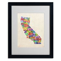 Trademark Global California City Framed Canvas Wall Art