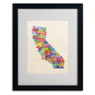 Trademark Global California City Framed Canvas Wall Art