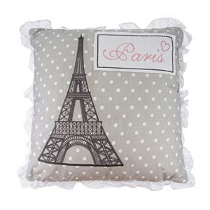 Levtex Margaux Polka Dot ''Paris'' Throw Pillow