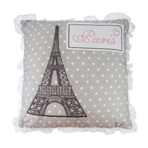 "Levtex Margaux Polka Dot ""Paris"" Throw Pillow"