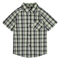 Toddler Boy Hurley Raglan Woven Plaid Shirt