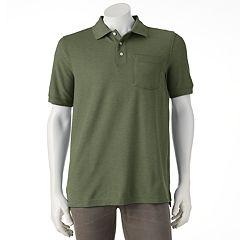 Men's Croft & Barrow® Signature Solid Pocket Pique Polo