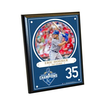 Steiner Sports Kansas City Royals 2015 World Series Champions Eric Hosmer Plaque