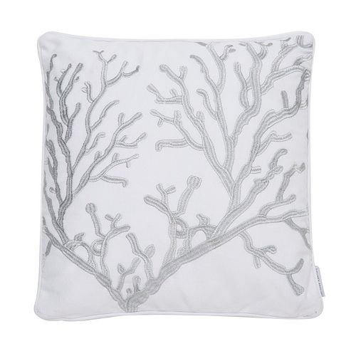 Levtex Nantucket Coral Embroidered Throw Pillow