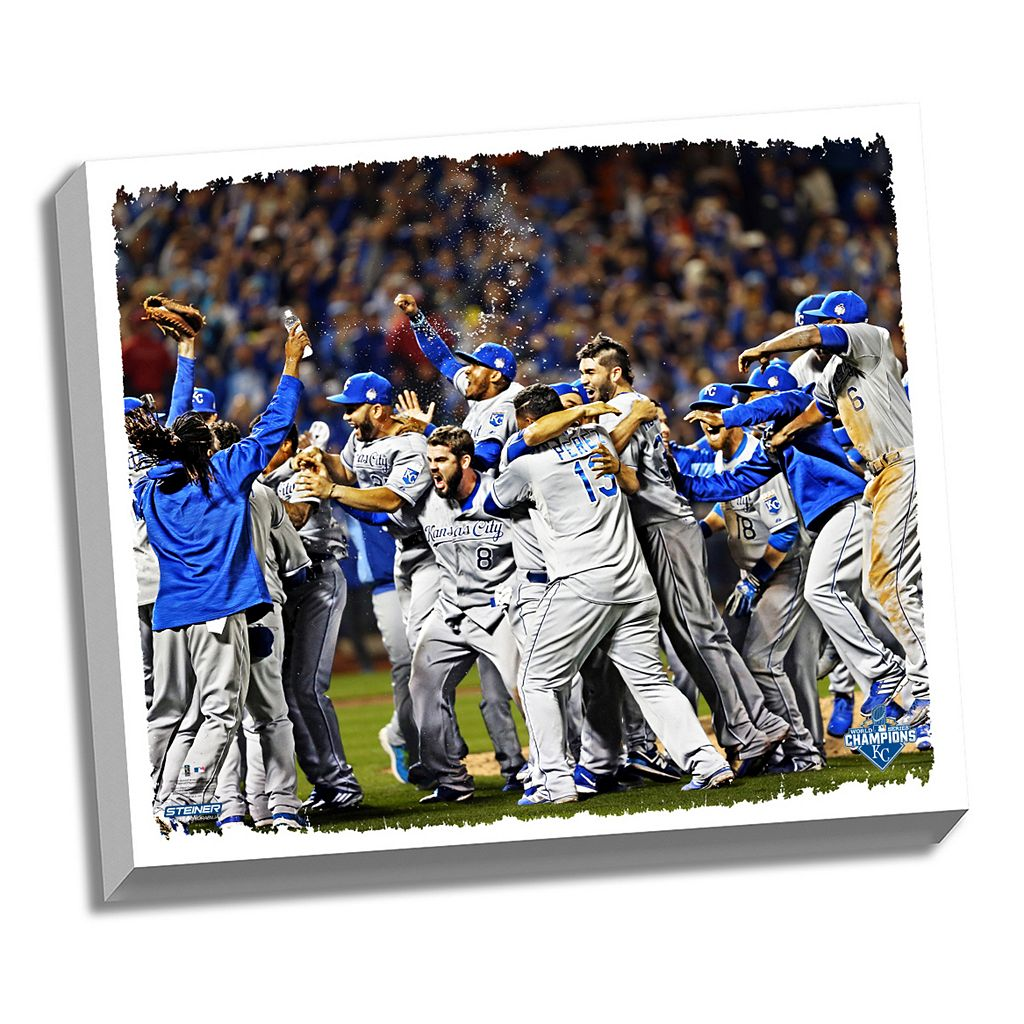Steiner Sports Kansas City Royals 2015 World Series Champions Celebration Wall Art