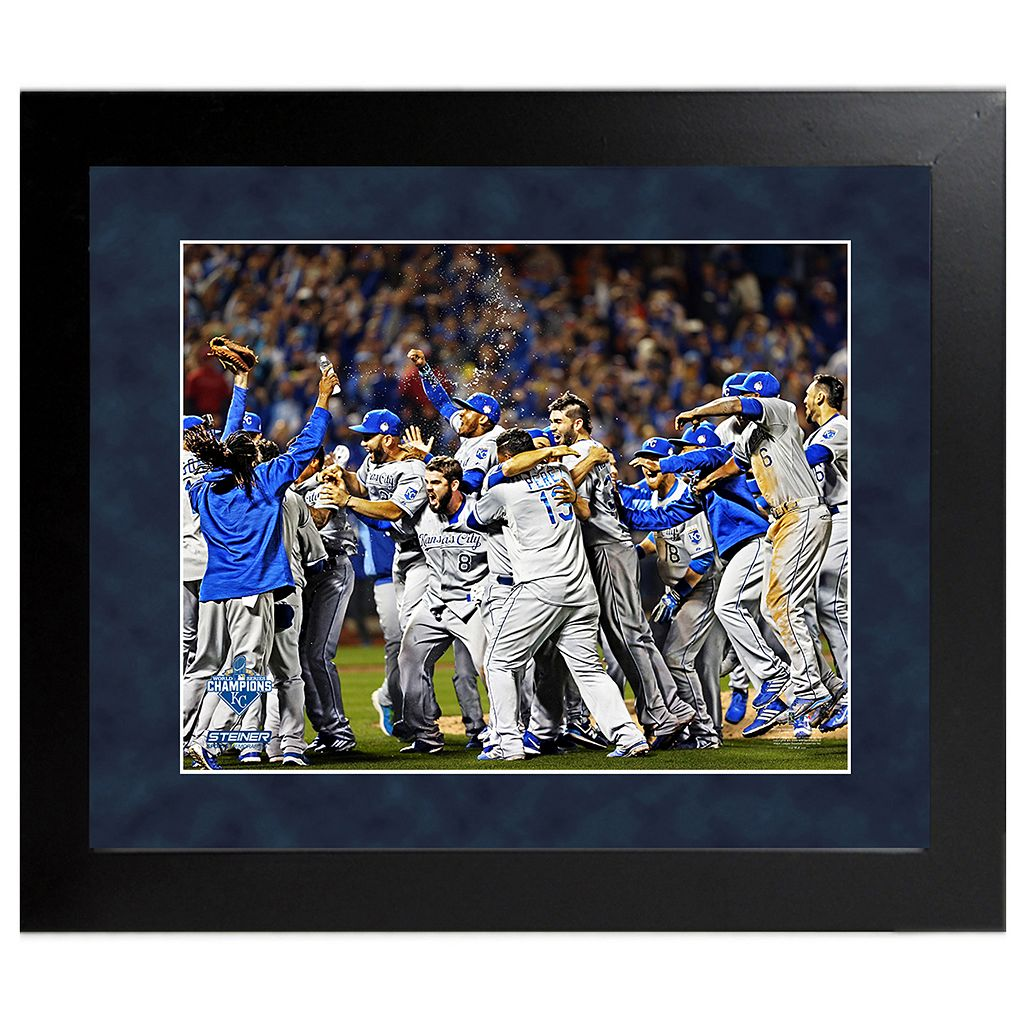 Steiner Sports Kansas City Royals 2015 World Series Champions Team Celebration Wall Art
