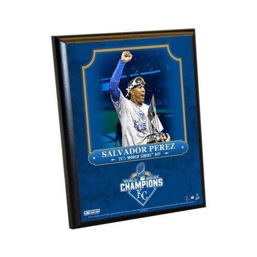 Steiner Sports Kansas City Royals 2015 World Series Champions Championship MVP Salvador Perez Plaque