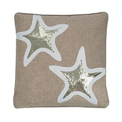 Levtex Maui Applique Starfish Throw Pillow
