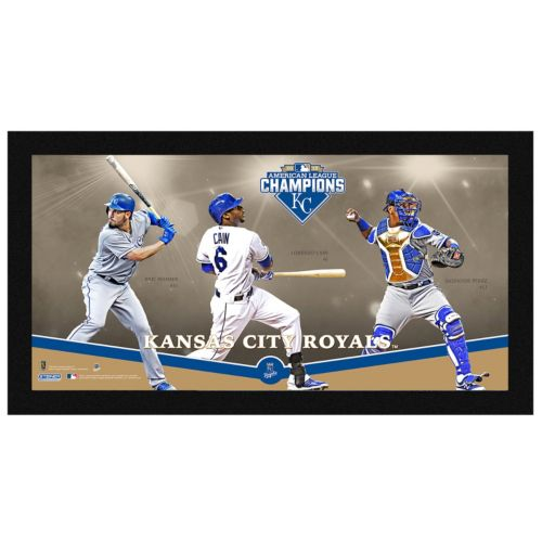 Steiner Sports Kansas City Royals 2015 American League Champions Players Wall Art