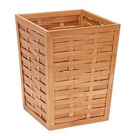 Household Essentials Basket Weave Waste Bin