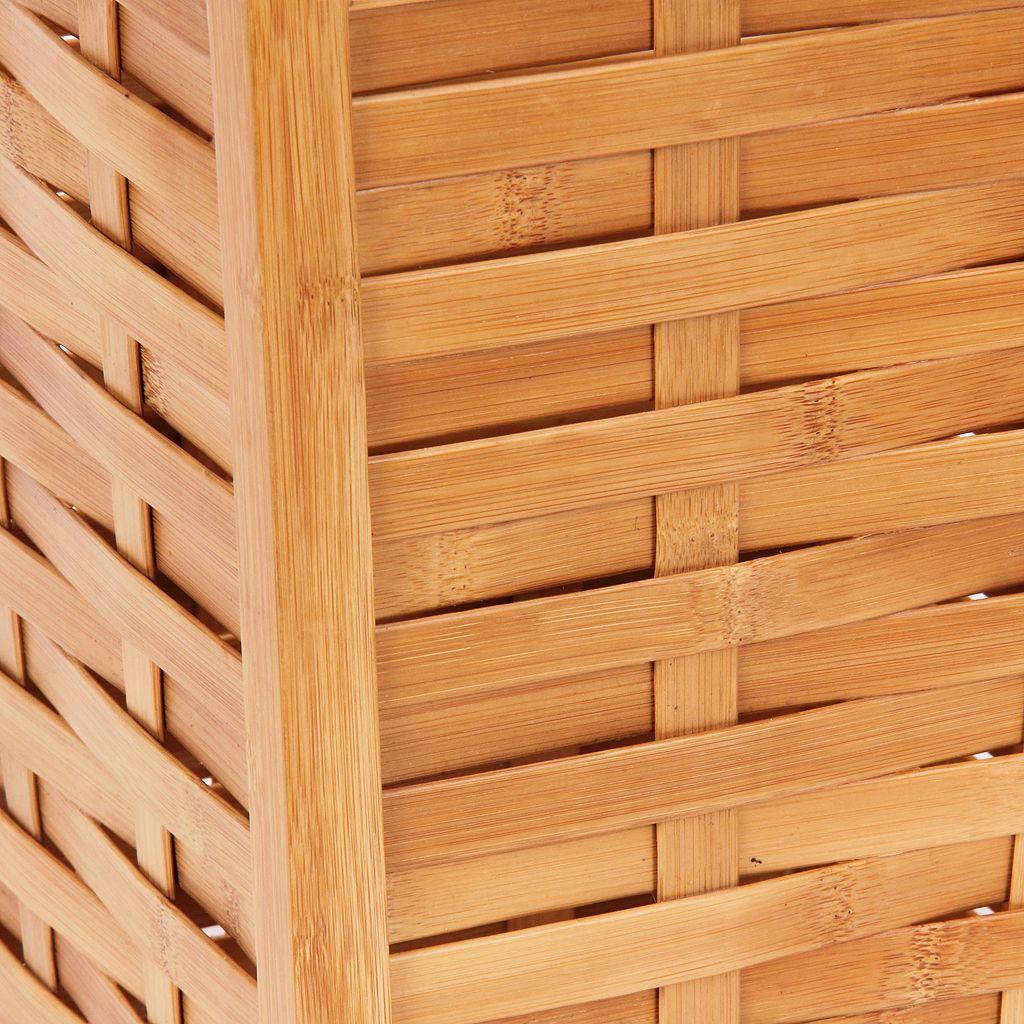 Household Essentials Basket Weave Waste Bin