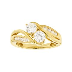 10k Gold 3/4 Carat T.W. Diamond 2-Stone Ring