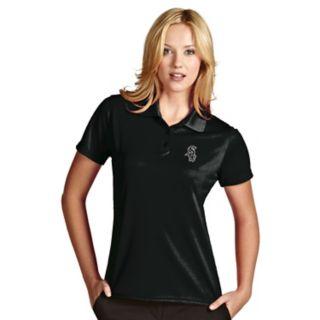 Women's Antigua Chicago White Sox Exceed Desert Dry Xtra-Lite Performance Polo