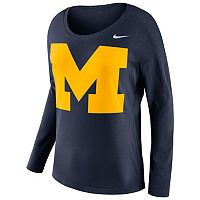 Women's Nike Michigan Wolverines Tailgate Long-Sleeve Top